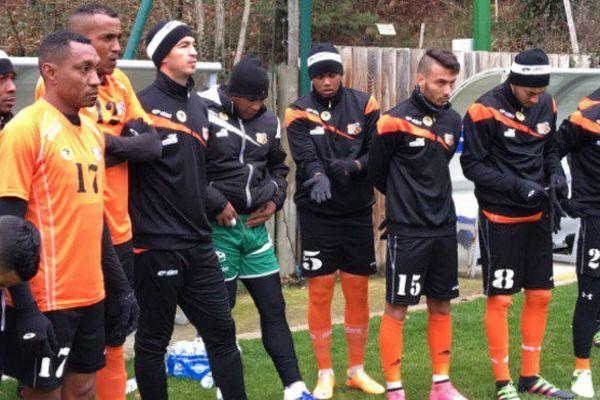 Coupe de France de football : les Réunionnais de l'Excelsior s'entraînent dans le froid de Clairefontaine
