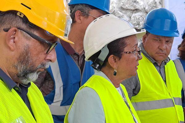 Visite chantier NRL Huguette Bello