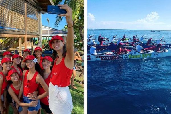 Les candidates à Miss Tahiti 2019 se mettent au va'a !