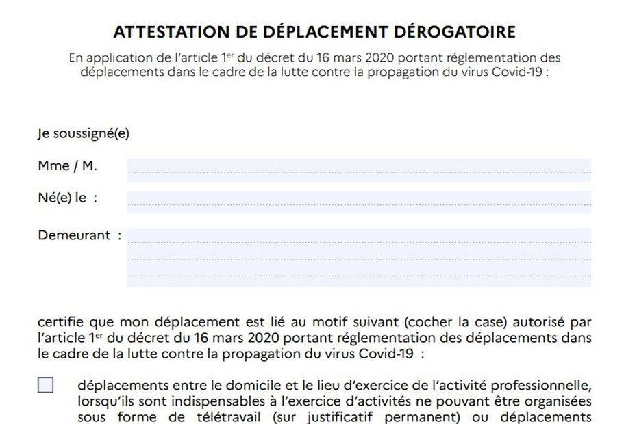 Coronavirus Telecharger L Attestation De Deplacement Derogatoire Reunion