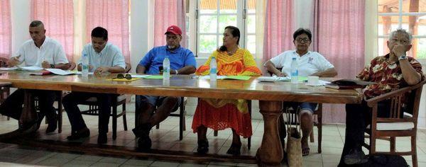 Les maires des ISLV à Raiatea