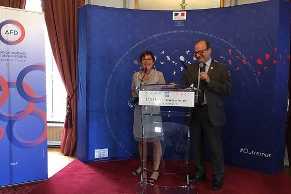 AFD Girardin et Rémy Rioux