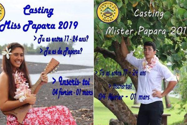 Casting Miss & Mister Papara
