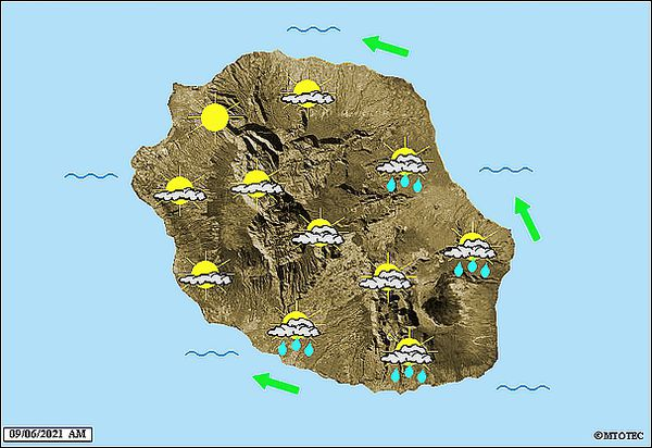 Carte météo 9 juin 2021