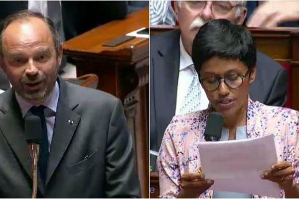 Edouard Philippe et Ericka Bareigts