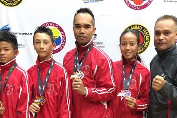 Karaté  Open Australie : 3 médailes d'or, 1 d'argent et 1 de bronze pour nos karatékas