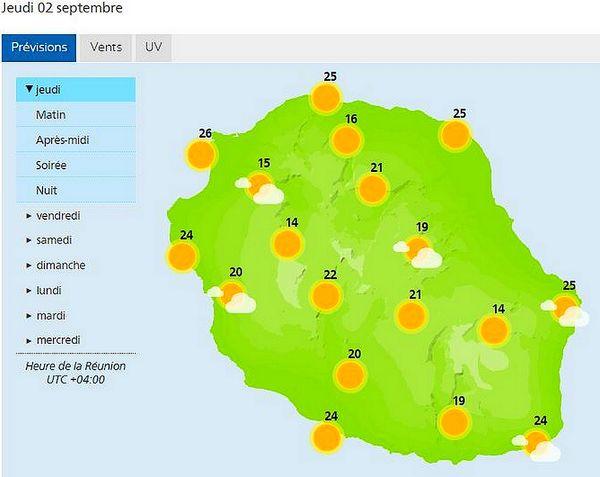 Carte météo 2 septembre 2021