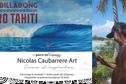 Le surf en peinture avec Nicolas Caubarrere
