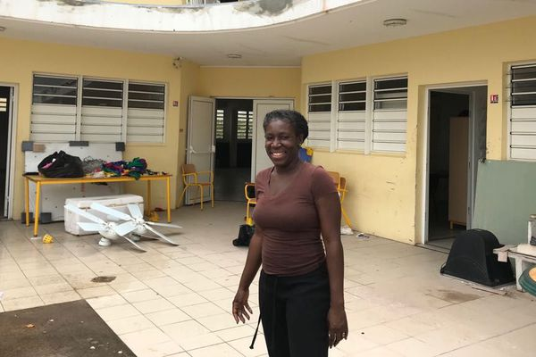 Joëlle Nébor, directrice de l'école maternelle Jérome Beaupère à Sandy Ground