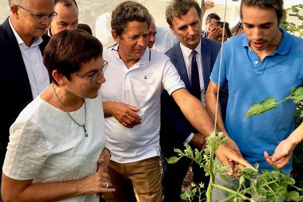 Annick Girardin rencontre les agriculteurs réunionnais à Montvert.