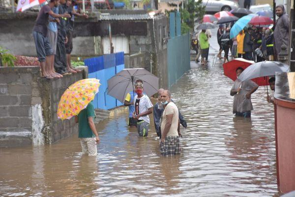Inondations Chemin Grenier Ile Maurice