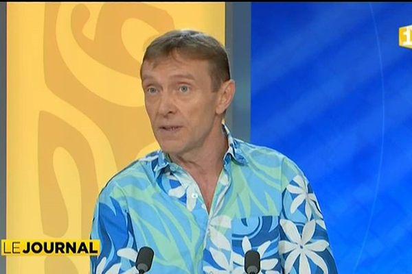Le président du Syndicat des Dancings de Polynésie Française, Eric Marret : invité du journal