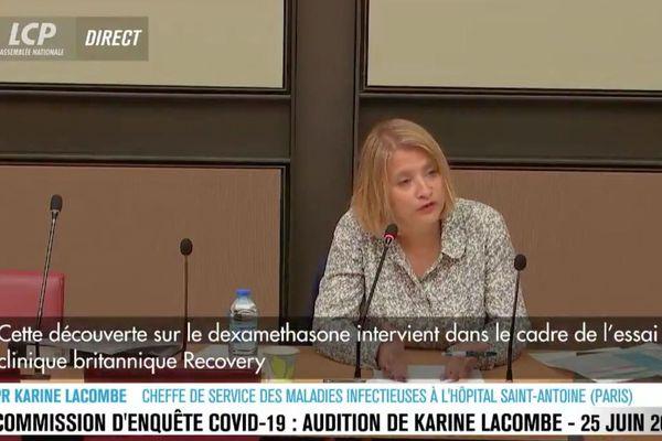 Audition de Karine Lacombe devant la commission d'enquête Covid-19