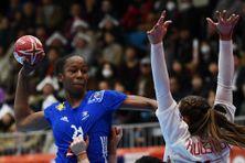 Orlane Kanor, le 6 décembre 2019, lors du match France-Danemark des Championnats du monde.