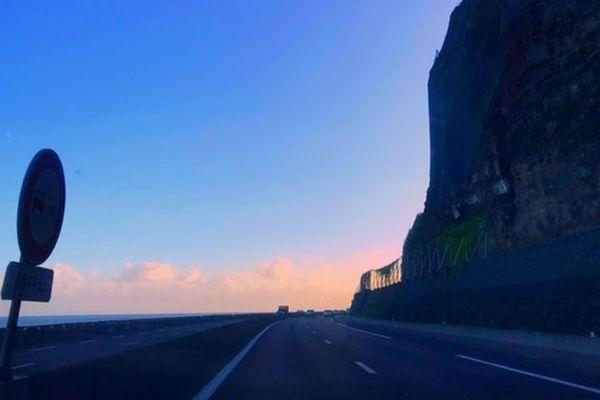 Route du littoral, lever de jour août 2019