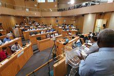 Les élus de l'Assemblée de Martinique (9 juillet 2021).