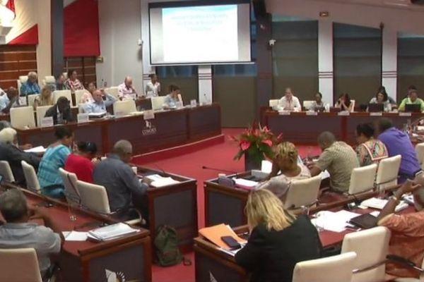 Examen du budget supplémentaire de la Nouvelle-Calédonie au Congrès, 29 octobre 2019