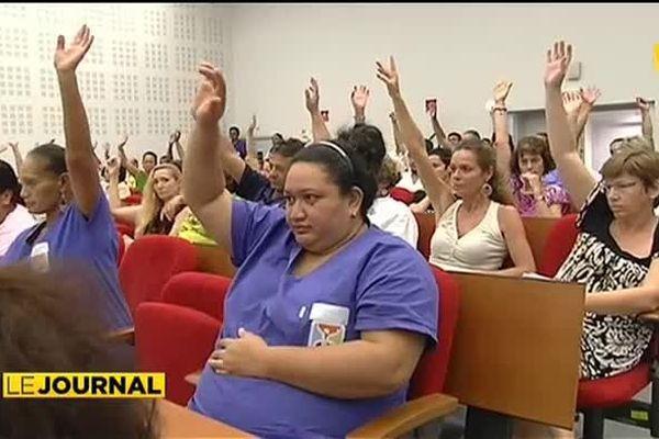 Menace de grève au centre hospitalier