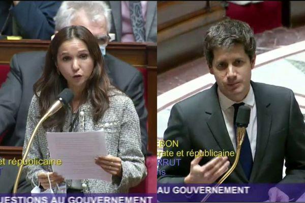 Karine Lebon et Julien Denormandie