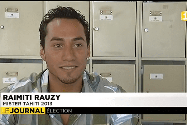 Portrait de Raimiti Rauzy, Mister Tahiti 2013