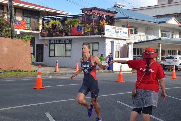 Samoa 2019, Charlotte Robin à l'aquathlon