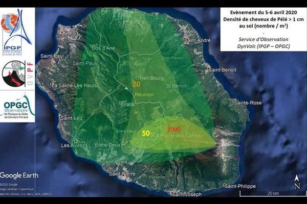 Volcan Piton de la Fournaise carte cheveux de Pélé 090420