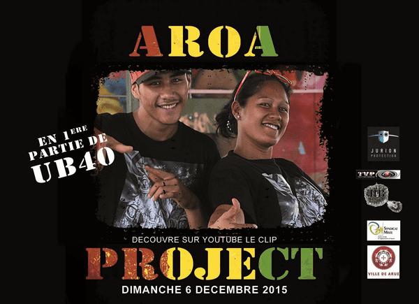 Aroa Project en 1ère partie du concert de UB40 à Tahiti