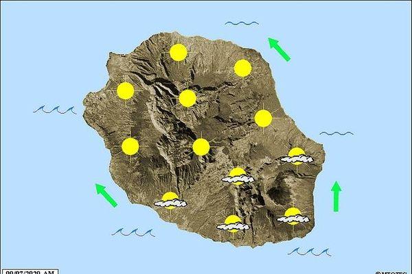 Carte météo 9 juillet 2020