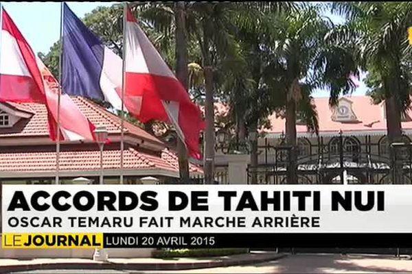 Oscar Temaru renonce aux accords de Tahiti nui