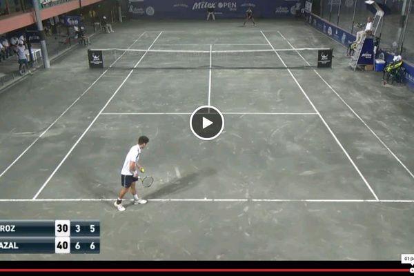 Maxime Chazal a battu Quiroz 6-3, 7-5