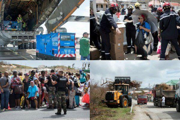 le chantier de la reconstruction Irma saint-Martin