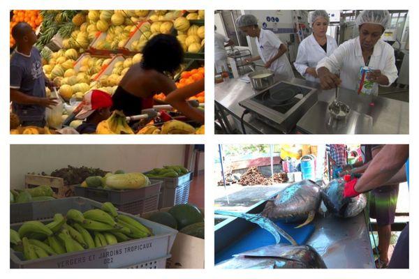 Légumes, fruits, poissons, industrie