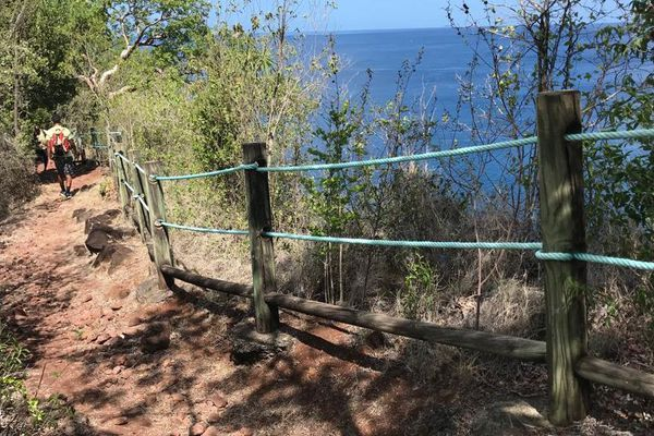 Traces du Petit Malendure... attention à la falaise