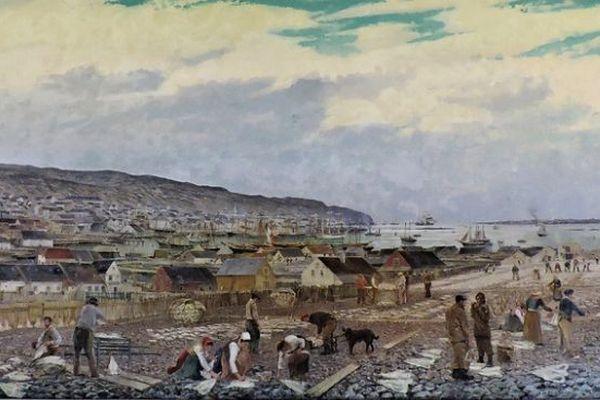 panorama saint-pierre noir blanc
