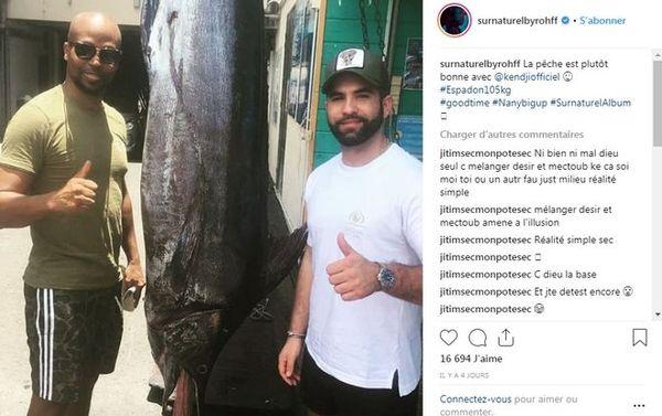 Rohff et Kendji à la pêche au gros janvier 2019