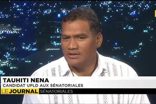 Sénatoriales : Tauhiti Nena candidat UPLD invité du journal