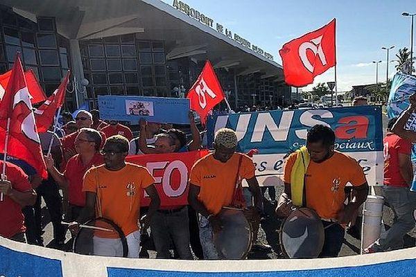 Manifestation de la CFTC, FO et l'UNSA