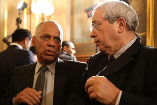 Deux présidents de région : Victorin Lurel (Guadeloupe) et Jean-Paul Huchon (Ile de France)