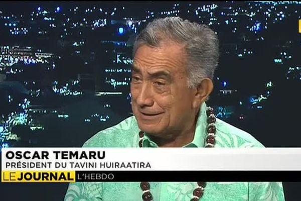 Le président du Tavini Huiraatira, Oscar Temaru était l'invité du journal