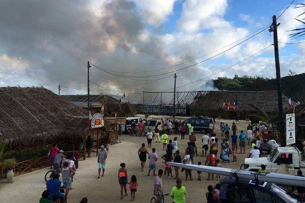 Un incendie ravage le site du Heiva i Bora Bora