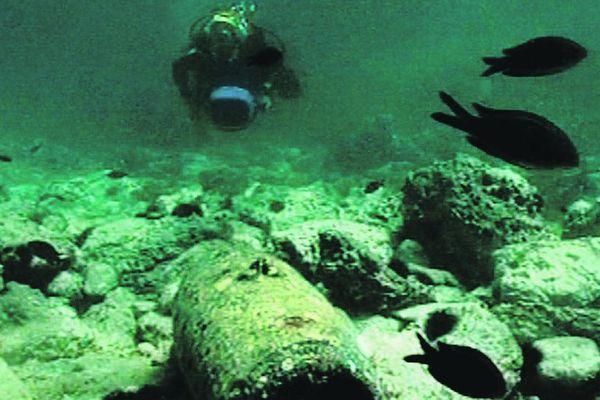 Bombe dans la mer