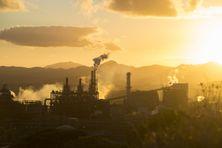 Usine du Sud (Prony Resources) en Nouvelle-Calédonie. Nickel et cobalt de la transition énergétique et écologique.