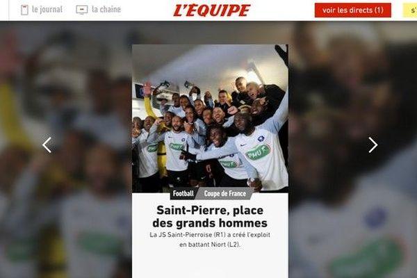 JSSP l'exploit des Saint-Pierrois fait la une de l'Equipe 050120