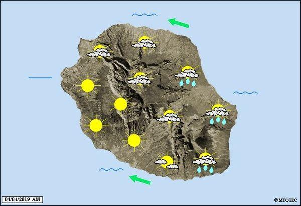 Carte météo 4 avril 2019