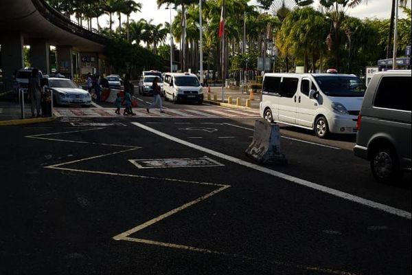 Les taxis,mobilisés à l'aéroport.