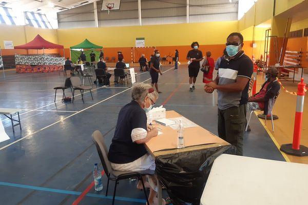 Au vaccinodrome de Koné, le 18 septembre.