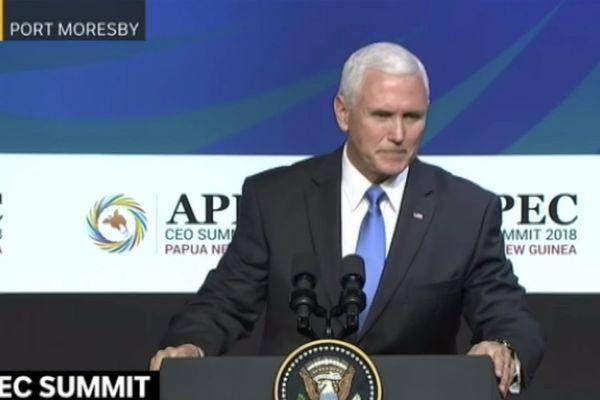 Mike Pence, vice-président américain, Apec, Port-Moresby, novembre 2018
