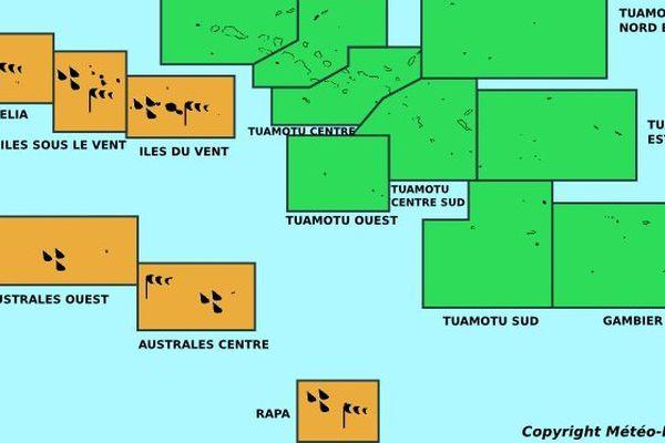 La Société et les Australes toujours en vigilance orange