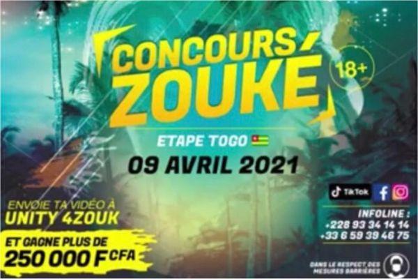 """Affiche du concours """"Zouké"""" / Zouk"""