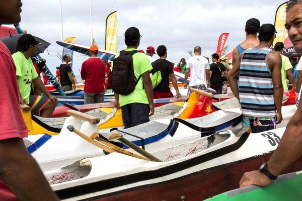 La pesée des va'a : un moment clé de la compétition Hawaiki nui
